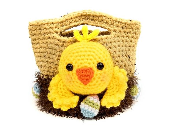 Treat Bags Crochet Easter Chick Pattern by Moji Moji Design