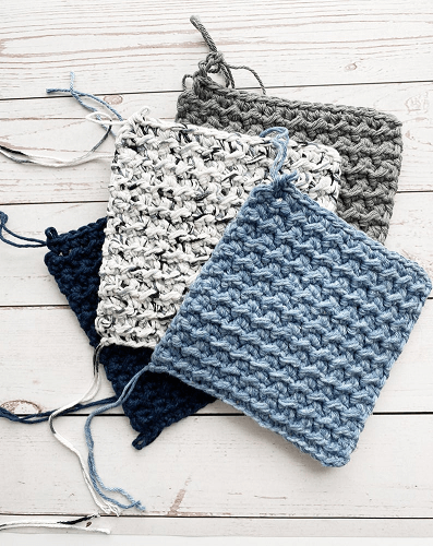 Easy Hot Pad Crochet Pattern by Kaylee Knots