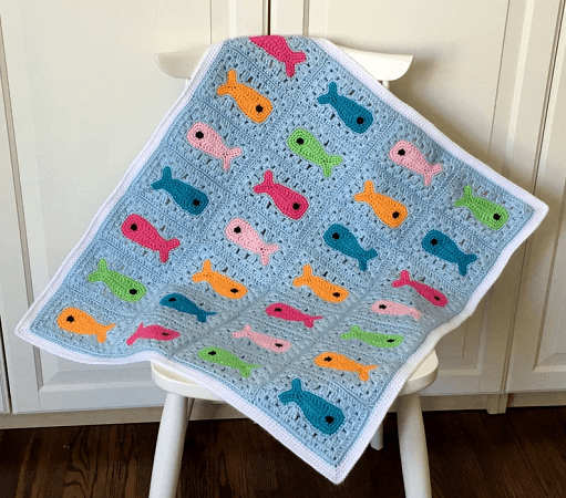 ish Baby Blanket Crochet Pattern by Knot Yourself Out
