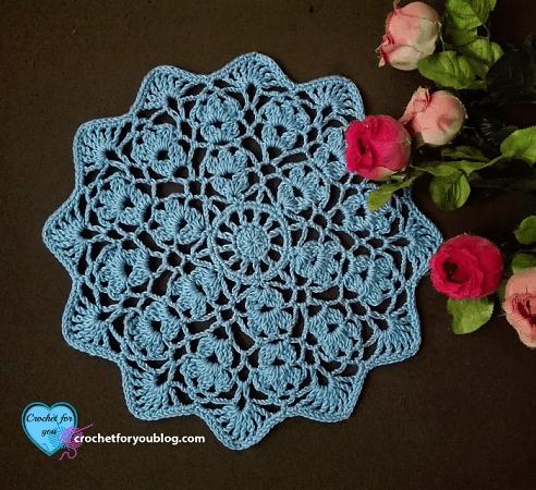 Flower Wheel Doily Free Crochet Pattern by Crochet For You