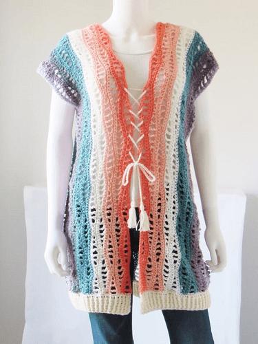 Free Crochet Kimono Pattern by Crochet Dreamz