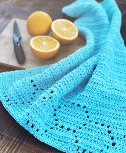 Honeycomb Hand Towel Crochet Pattern by Kneedles And Love