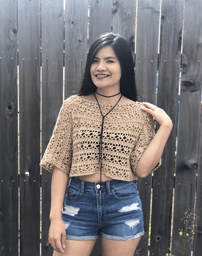 Lacy Summer Top Crochet Pattern by Knitcro Addict