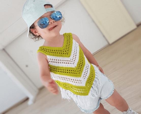 Little Girl Summer Top Crochet Pattern by By Katerina