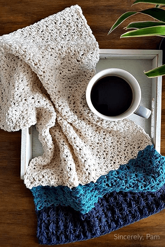 My Favorite Tea Towel Crochet Pattern by Sincerely Pam