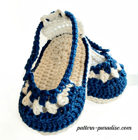 Nautical Baby Sandals Crochet Pattern by The Pattern Paradise