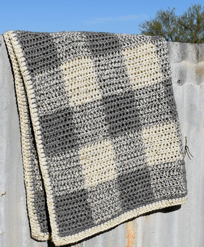 Neutral Baby Blanket Crochet Pattern by Hooked On Homemade Happiness