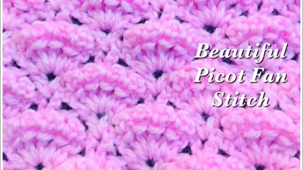 picot fan crochet stitch