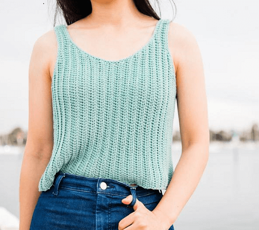 Sagebrush Tank Crochet Pattern by For The Frills Store