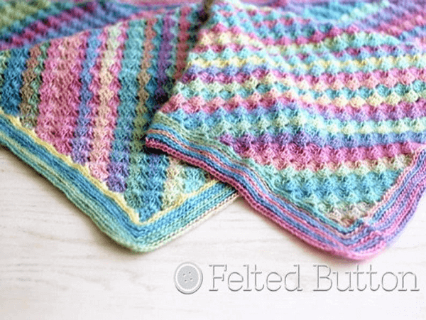 Spring Into Summer Baby Blanket Crochet Pattern by Felted Button