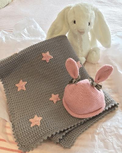 Stars Baby Blanket Crochet Pattern by Crochet Club