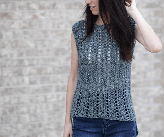 Summer Top Crochet Pattern by Mama In A Stitch