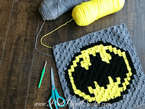 The Incredible Batman Crochet Pattern by Pixel Perfect