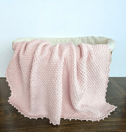 Tunisian Crochet Baby Blanket Pattern by Little Monkey Shop