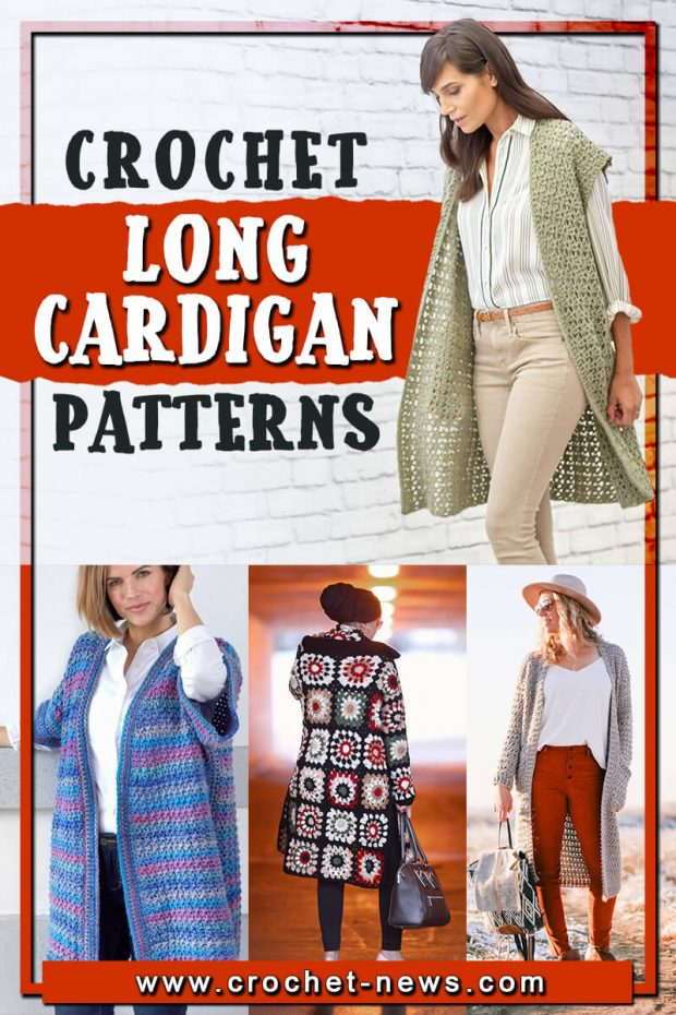 CROCHET LONG CARDIGAN PATTERNS