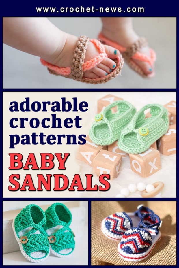 ADORABLE CROCHET BABY SANDALS PATTERNS