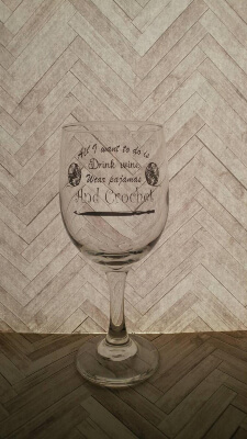Crochet wine glass