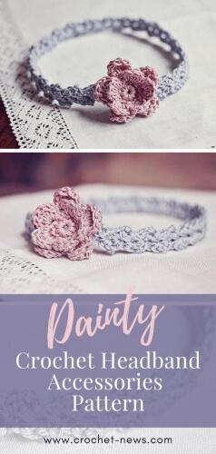 Dainty Crochet Flower Headband Accessories Pattern