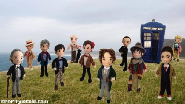 Mega Set of 14 All 12 Time Travel doctors plus extra doctor with Police box Crochet Amigurumi Patterns
