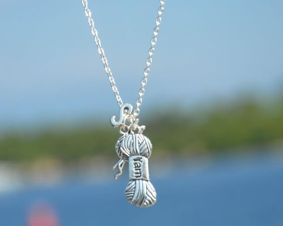 Personalize Necklace Gift for Crocheter