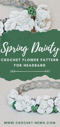 Spring Dainty Crochet Flower Pattern for Headband
