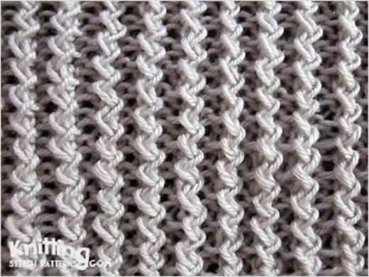zig-zag rib stitch