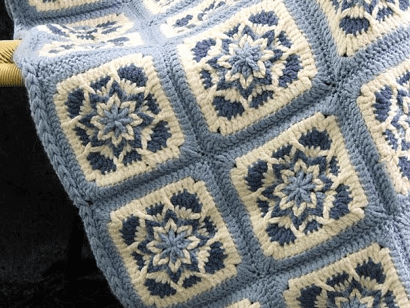 Amazing Afghan Baby Star Blanket Crochet Pattern by By Frenchie