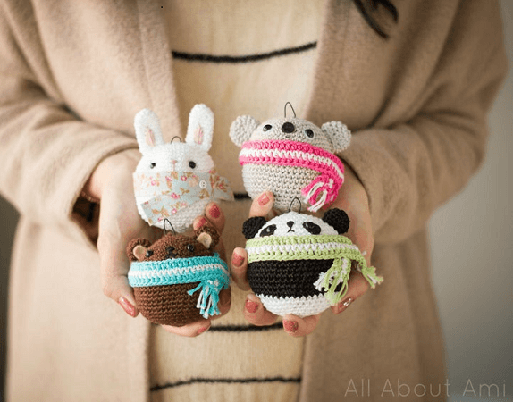 Amigurumi Ornaments Crochet Pattern by All About Ami