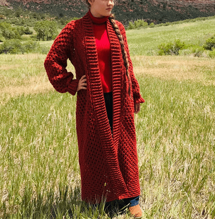 Autumn In The Mountains Cardigan Crochet Pattern by Colorado Shire