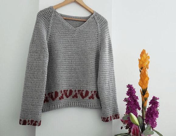 Bandia Crochet Sweater Pattern by Bella Cococ Crochet