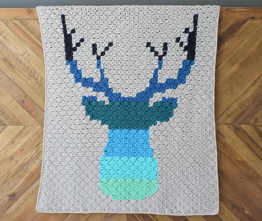 Be A Deer C2C Crochet Blanket Pattern by Make And Do Crew