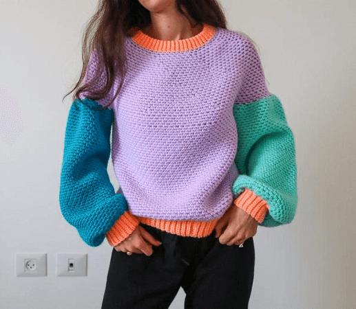 Better Sweater Crochet Pattern by The Snugglery Patterns