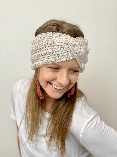 Boho Twisted Headband Crochet Pattern by A Crafty Concept
