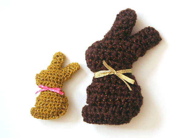 Chocolate Easter Bunny Mini Plush Crochet Pattern by Twinkie Chan