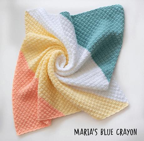 Crochet C2C Silt Blanket Pattern by Maria's Blue Crayon