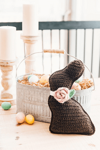 Crochet Chocolate Bunny Easter Pattern by Sewrella