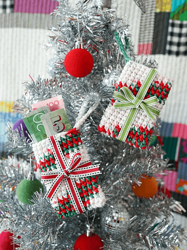 Crochet Gift Card Holder Christmas Ornament Pattern by My Poppet Makes