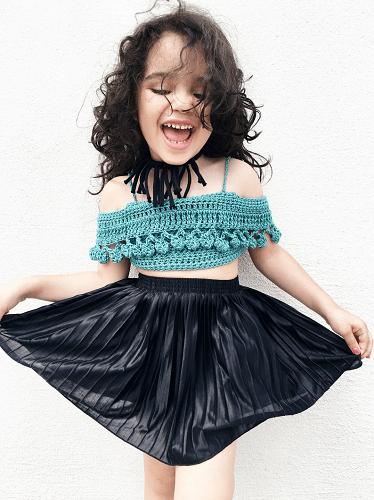 Crochet Off The Shoulder Top Pattern by Abigail Haze Designs