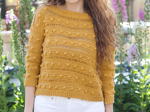 Crochet Ronia Sweater Pattern by Hooked On Tilly