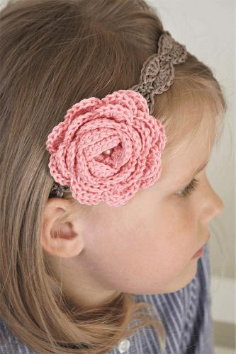Crochet Rose Headband Pattern by Lilleliis