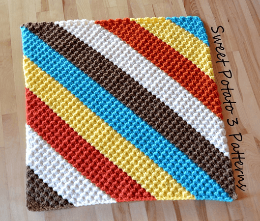 Diagonal Delights Baby Blanket Crochet Pattern by Sweet Potato 3 Patterns