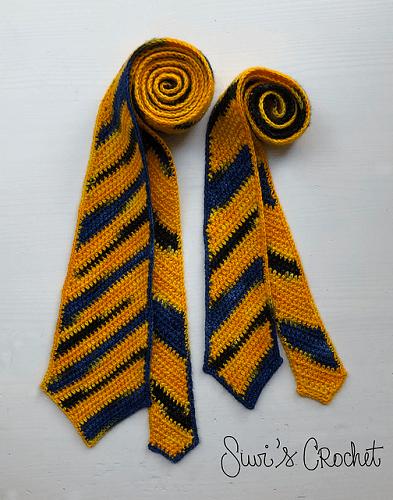 Diagonal Stripe Necktie Crochet Pattern by Suvi's Crochet