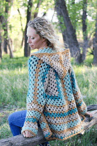 Easy Hexagon Crochet Sweater Pattern by Make And Do Crew
