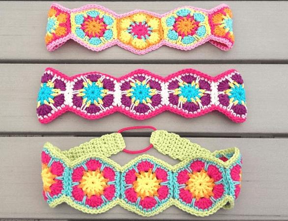 Power Headband Floral Crochet Pattern by Elealinda Design