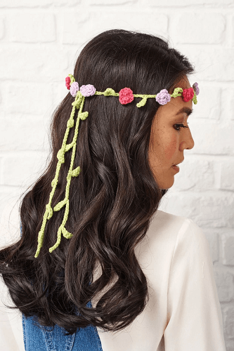Free Crochet Floral Headband Pattern by Gathered