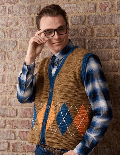 Free Mens Crochet Waistcoat Pattern by Gathered