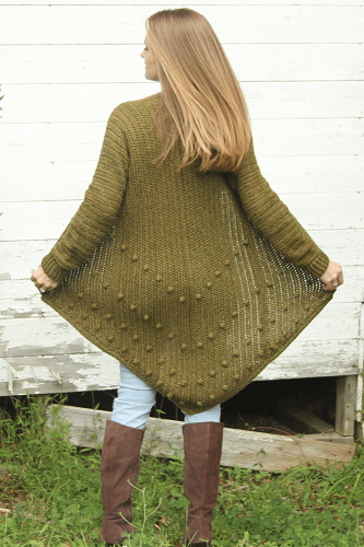 Free Modern Crochet Long Cardigan Pattern by Life And Yarn