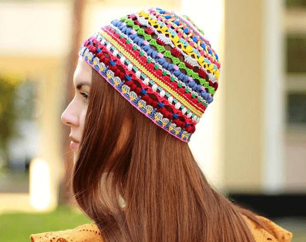 Hippie Crochet Hat Pattern by It Was Yarn