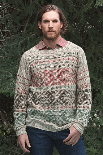 Huntsman Sweater Crochet Pattern by Natasha Robarge