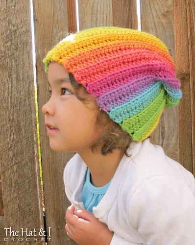 Lollipop Rainbow Swirl Hat Crochet Pattern by The Hat And I